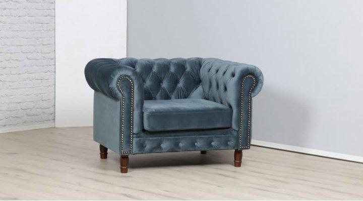 Кожаное кресло Честер Арт