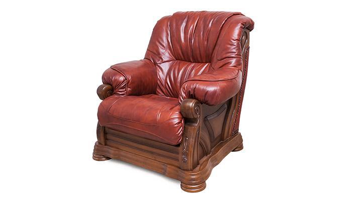 Кожаный комплект с двумя креслами Виконт - 9