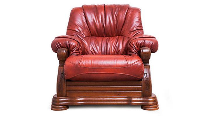 Кожаное кресло Виконт