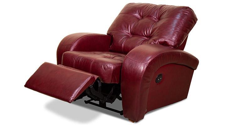 Кожаное кресло реклайнер Винс - 3