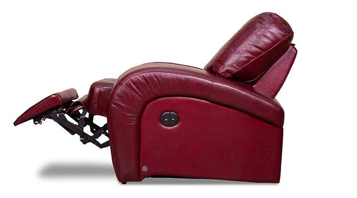 Кожаное кресло реклайнер Винс - 5