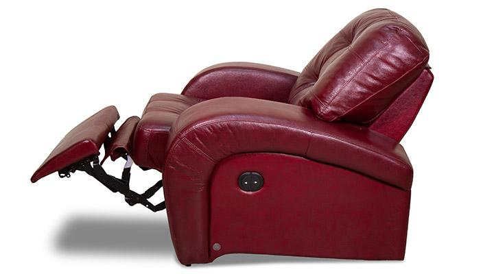Кожаное кресло реклайнер Винс - 4