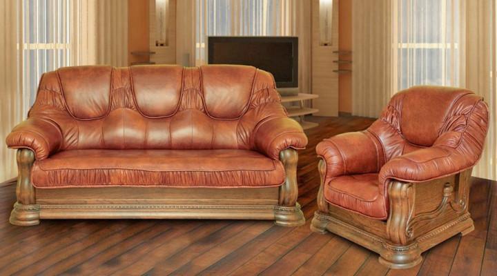 Кожаное кресло Гризли - 2