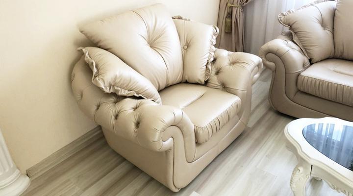 Кожаное кресло Брокард - 2