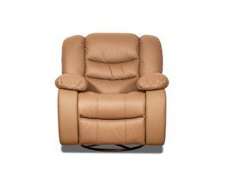 Кожаное кресло реклайнер Манхэттен