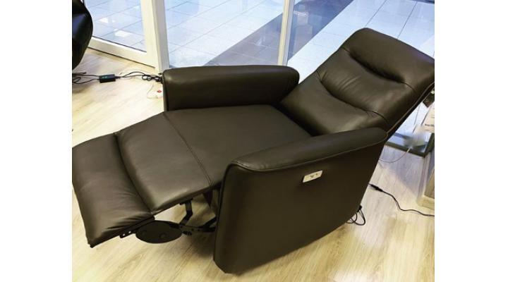 Кожаное кресло реклайнер Грин - 2