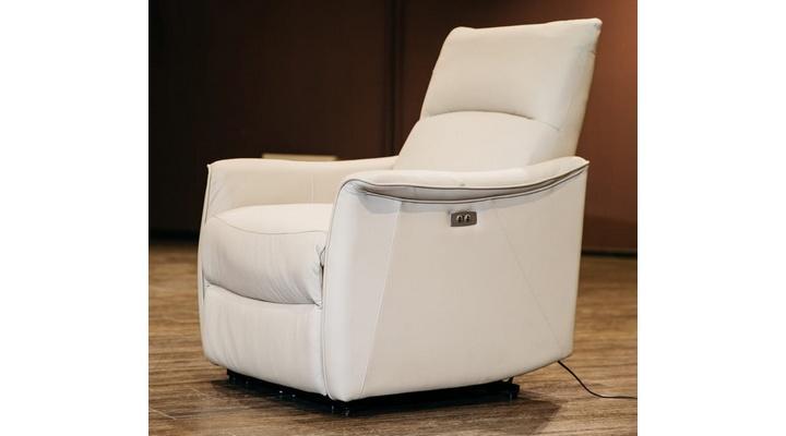 Кожаное кресло реклайнер Хилл - 8