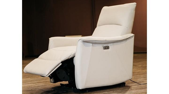 Кожаное кресло реклайнер Хилл - 4
