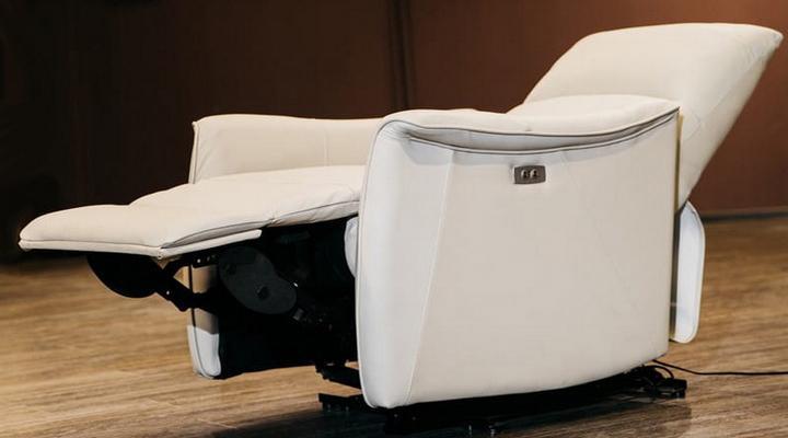 Кожаное кресло реклайнер Хилл - 6