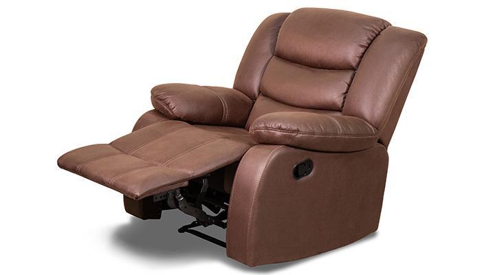 Кожаное кресло реклайнер Эшли - 6