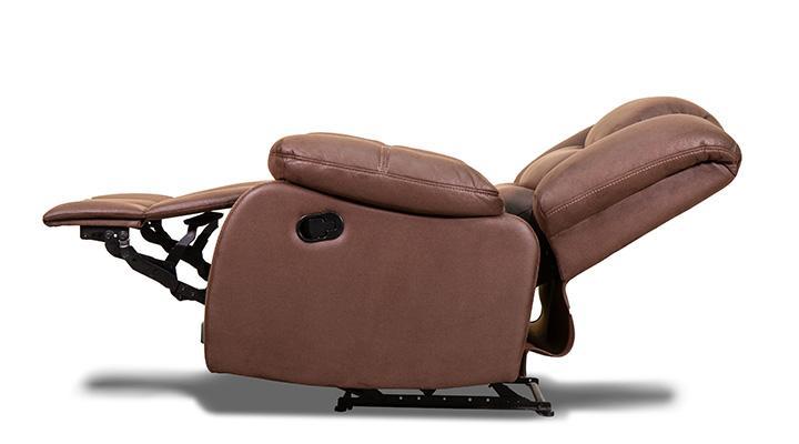 Кожаное кресло реклайнер Эшли - 5