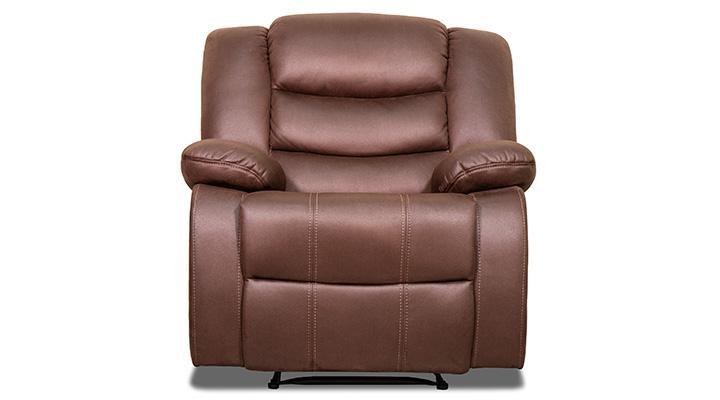 Кожаное кресло реклайнер Эшли