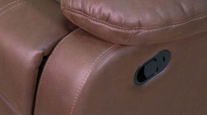 Кожаное кресло реклайнер Эшли - 8