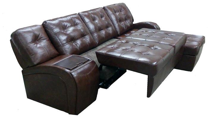 Кожаный модульный диван Винцент - 7