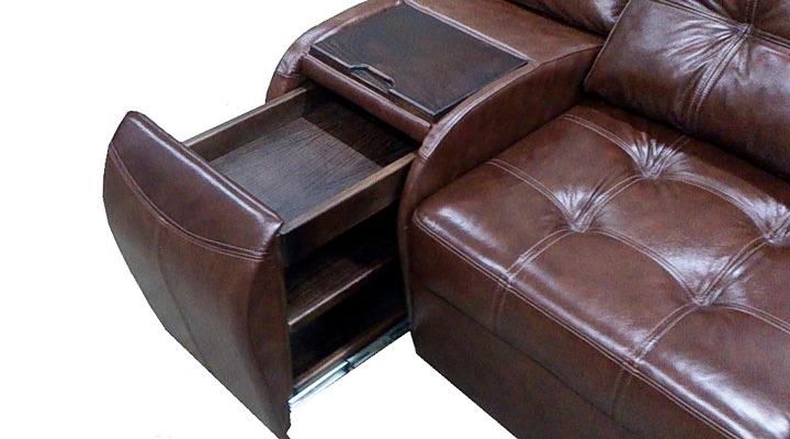 Кожаный модульный диван Винцент - 6