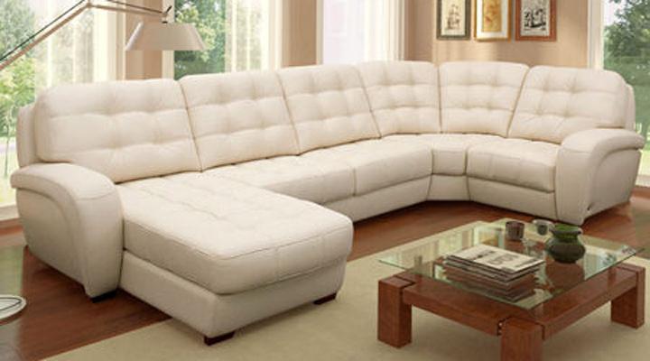 Кожаный модульный диван Винцент - 289 - 7