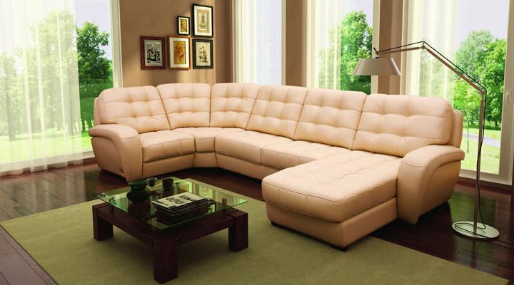 Кожаный модульный диван Винцент - 5