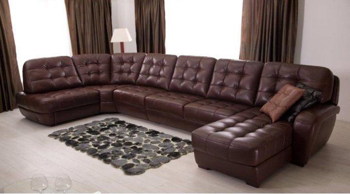 Кожаный модульный диван Винцент - 289