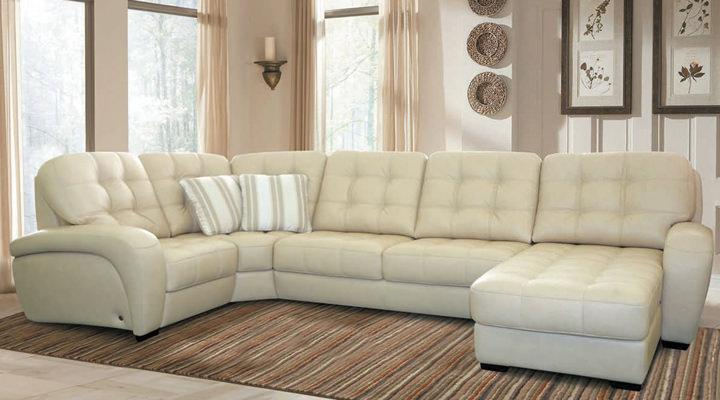 Кожаный модульный диван Винцент - 289 - 2