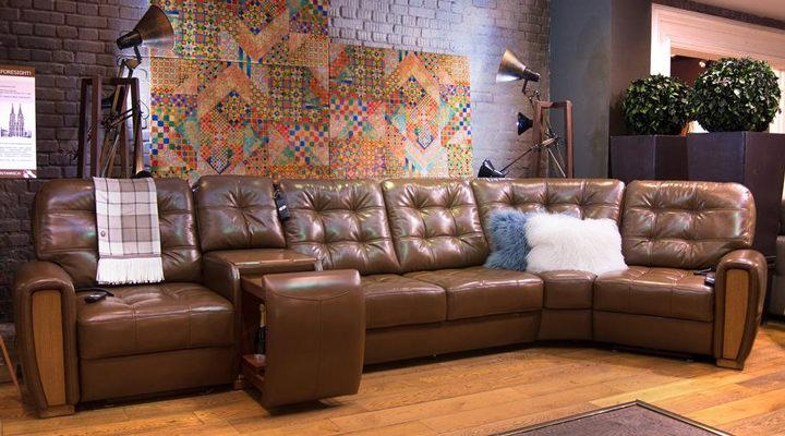 Кожаный модульный диван Винцент - 289 - 3
