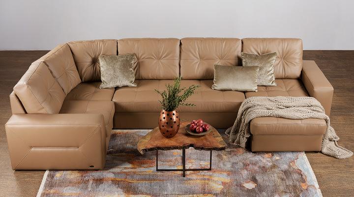 Кожаный модульный диван Калифорния B1-368 - 13