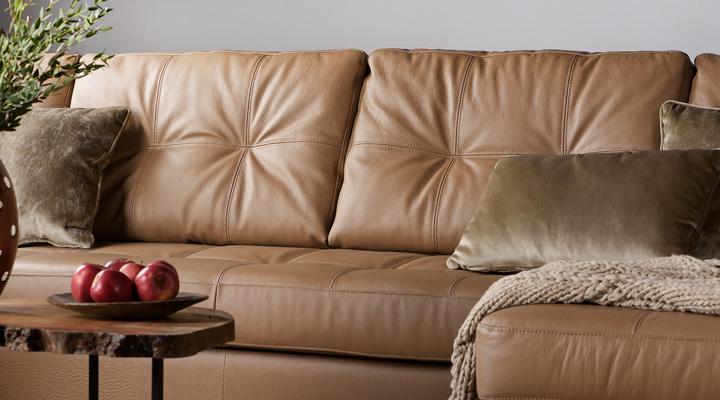Кожаный угловой диван реклайнер Калифорния В1-286 - 6