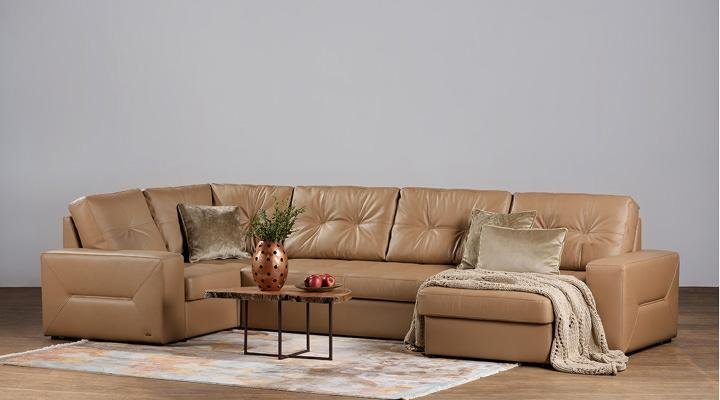 Кожаный модульный диван Калифорния B1-368