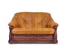 Кожаный двухместный диван Цезарь