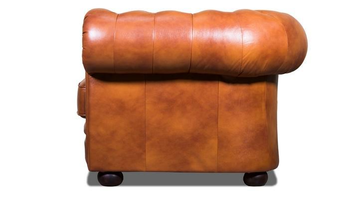 Кожаный двухместный диван Честер Классик - 6