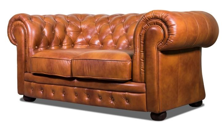 Кожаный двухместный диван Честер Классик - 3