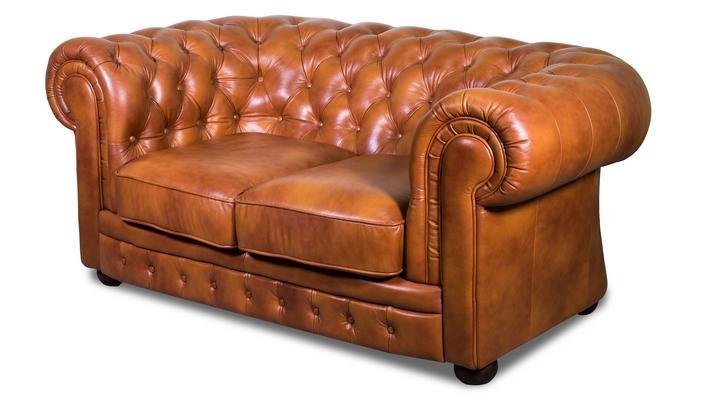 Кожаный двухместный диван Честер Классик - 4