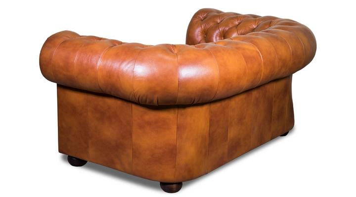 Кожаный двухместный диван Честер Классик - 5