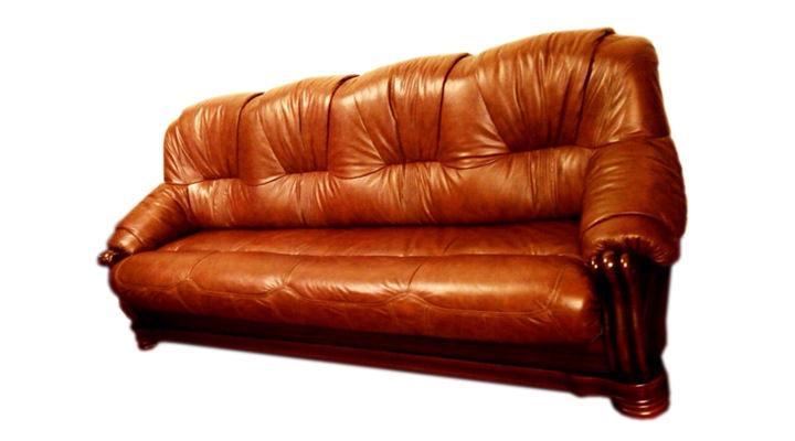 Кожаный четырехместный диван Граф