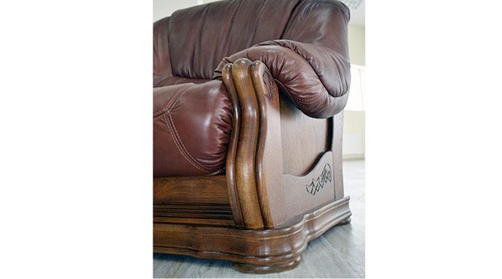 Кожаный двухместный диван Граф - 4
