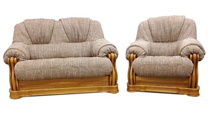 Кожаный двухместный диван Граф - 5
