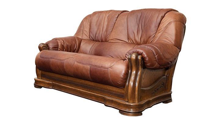Кожаный двухместный диван Граф