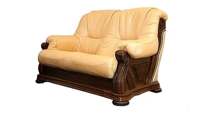 Кожаный двухместный диван Кардинал - 2