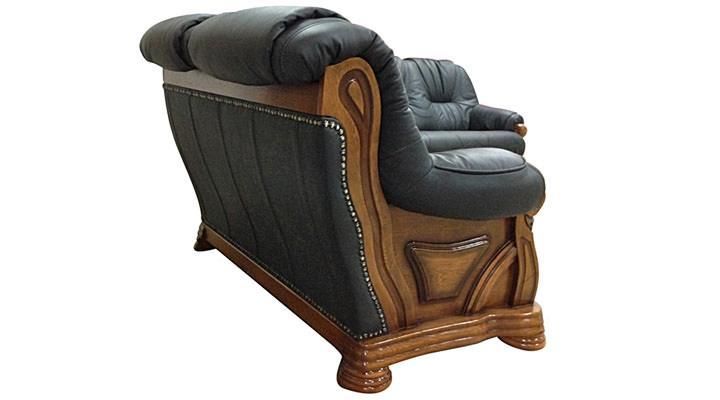 Кожаный двухместный диван Кардинал - 3