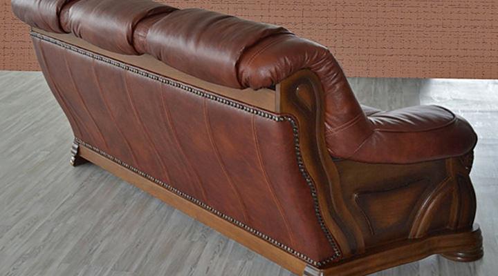Кожаный диван Кардинал - 15