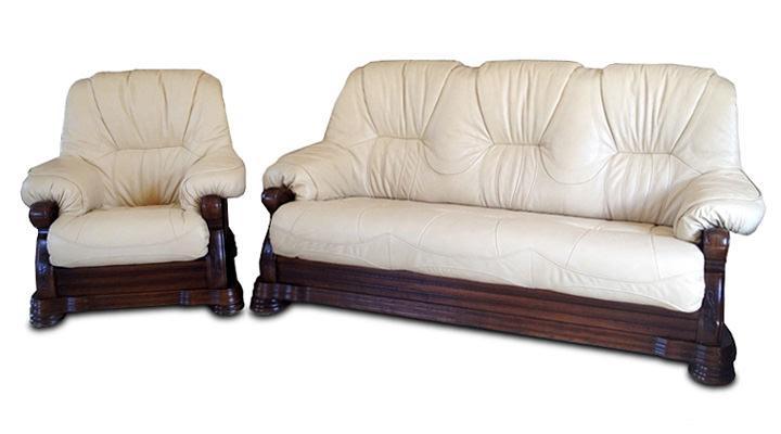 Кожаный диван Кардинал - 14
