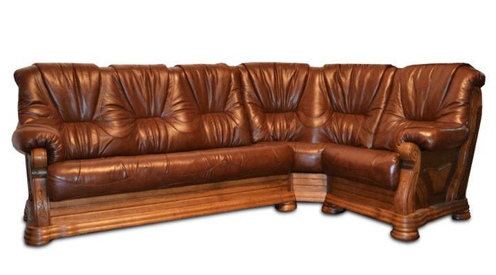 Кожаный угловой диван Кардинал - 4