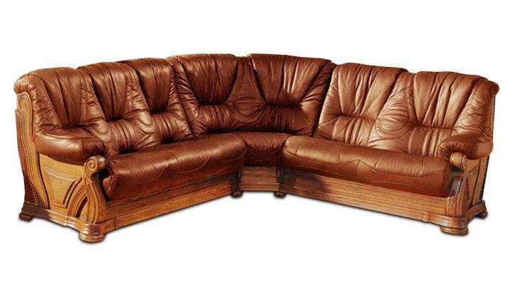 Кожаный угловой диван Кардинал - 2