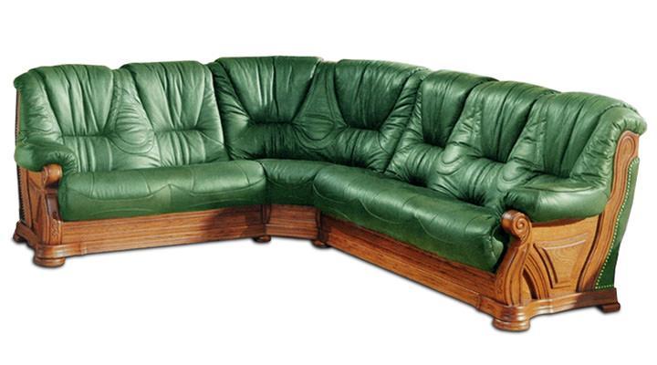 Кожаный угловой диван Кардинал - 5