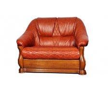 Кожаный двухместный диван Маркиз