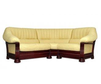Кожаный угловой диван Монарх