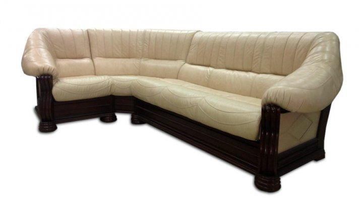 Кожаный угловой диван Монарх - 3