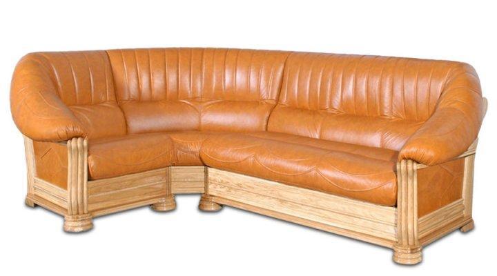 Кожаный угловой диван Монарх - 2