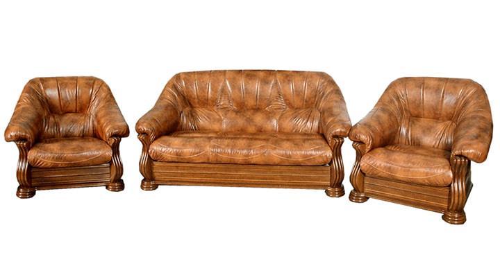 Кожаный диван Монарх - 3