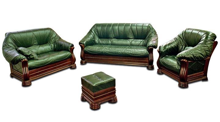 Кожаный диван Монарх - 2