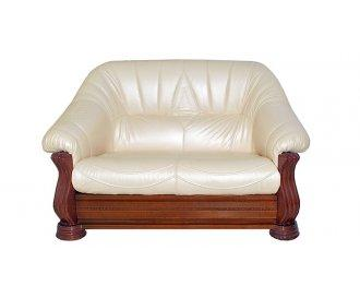 Кожаный двухместный диван Монарх